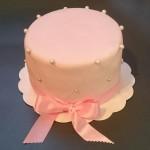 Gâteau rose pâle