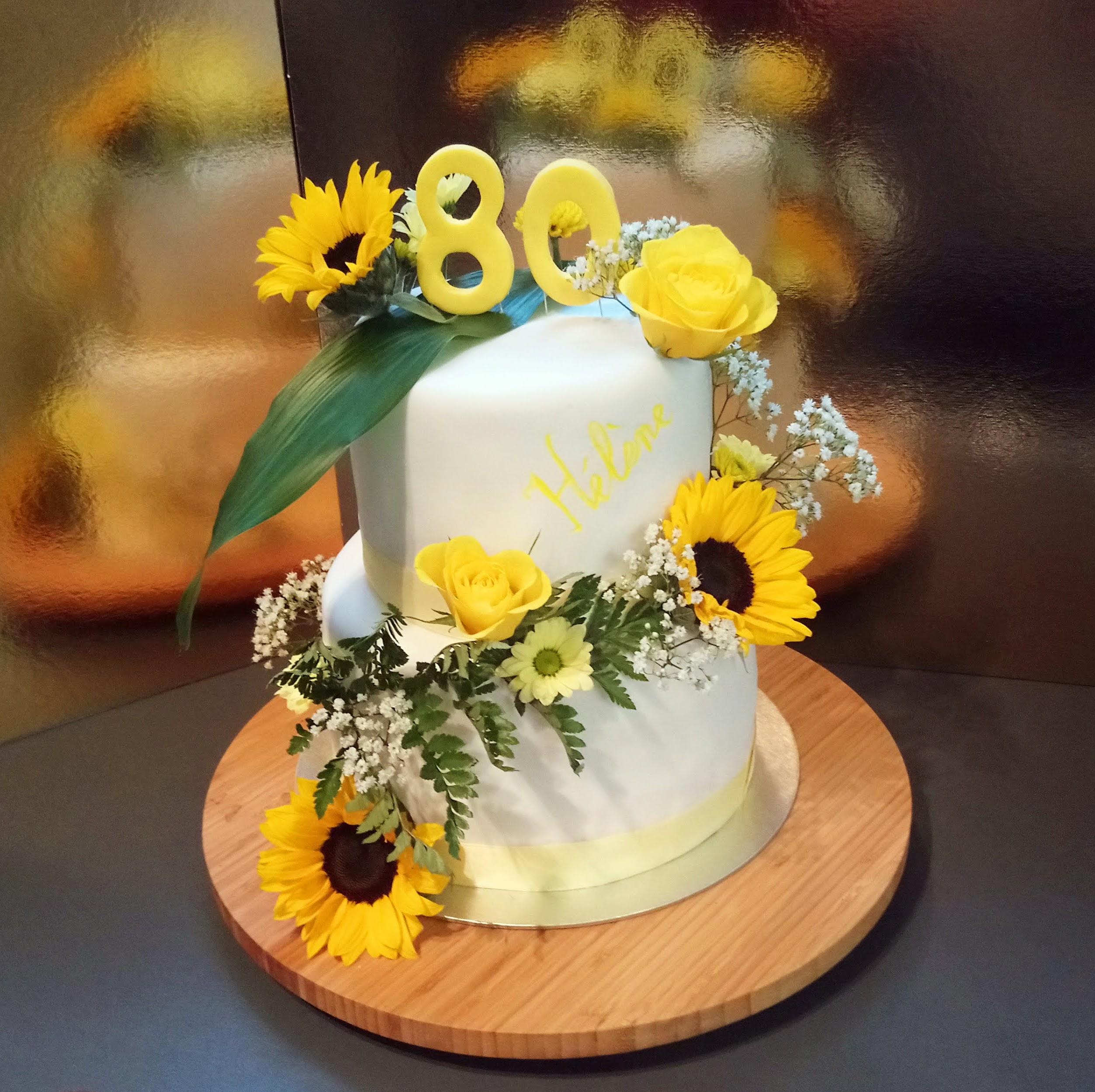 Gâteau tournesol