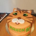 Gâteau d'anniversaire tigre